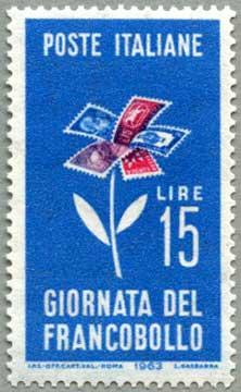 イタリア1963年切手の日
