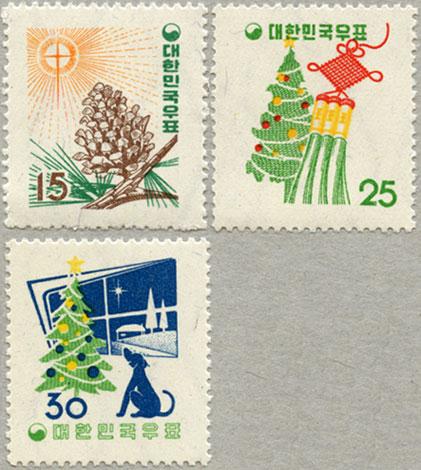 韓国1957年クリスマス3種