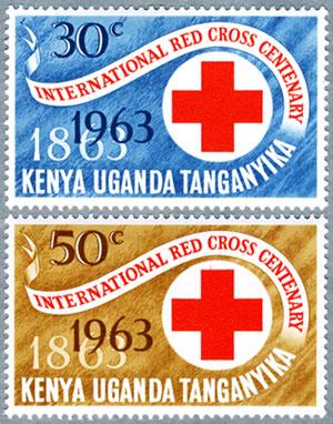 ケニア・ウガンダ・タンガニカ1963年赤十字100年2種