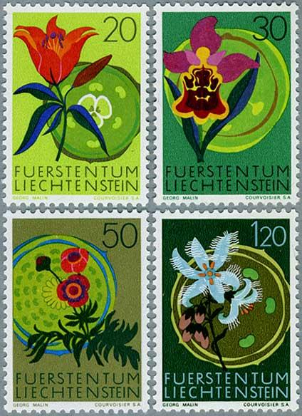 リヒテンシュタイン1970年蘭など4種
