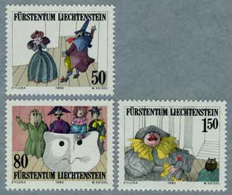 リヒテンシュタイン1985年Kirchplatz劇場15周年3種