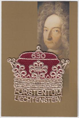 リヒテンシュタイン300年「刺繍切手 王冠」