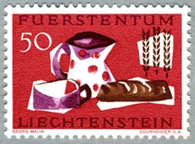 リヒテンシュタイン1963年麦と食卓のパン