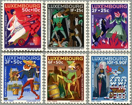 ルクセンブルグ1965年おとぎ話6種
