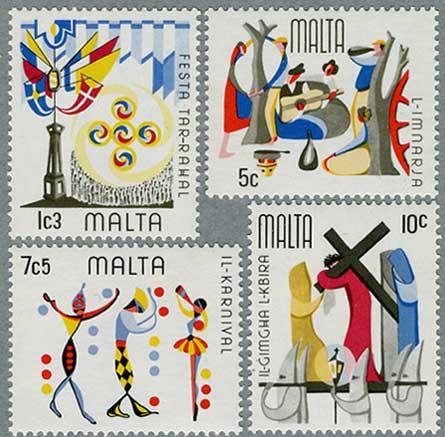 マルタ1976年カーニバルなど行事4種