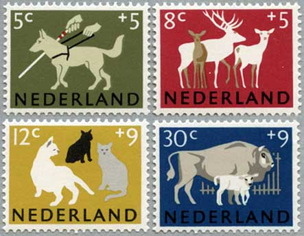 1964年盲導犬など4種