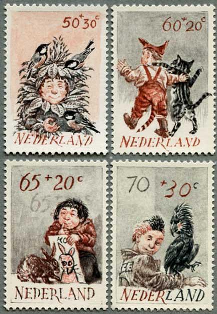 1982年子供と動物4種
