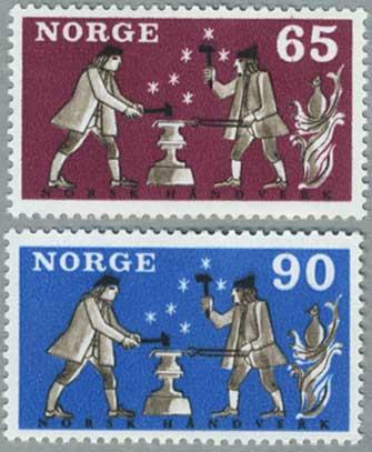 ノルウェー1968年鍛冶屋2種