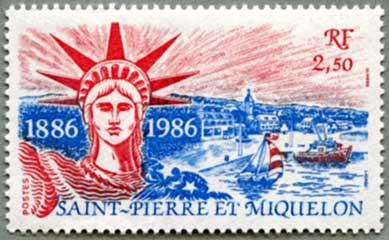 サンピエール・ミクロン1986年自由の女神100年