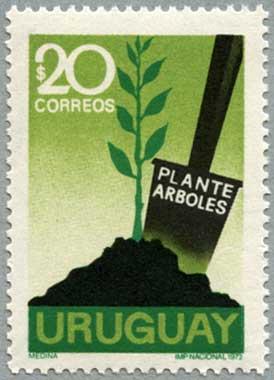 ウルグアイ1972年植樹
