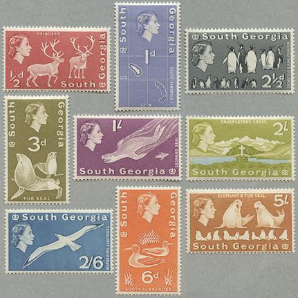 普通切手9種