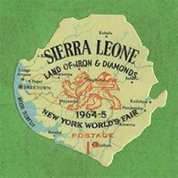 1964年地図型切手