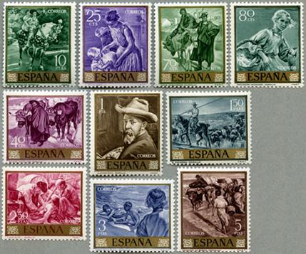 1964年画家Sorollaの作品10種