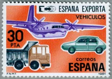 スペイン1981年輸出用の乗物