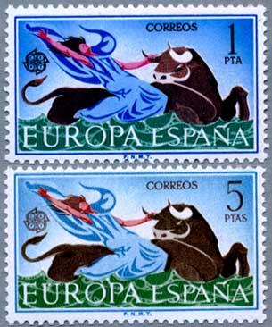 スペイン1966年ヨーロッパ切手2種