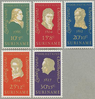 1970年作曲家べートーヴェン5種