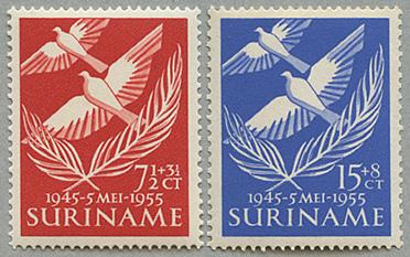 1955年オランダからの解放10年2種