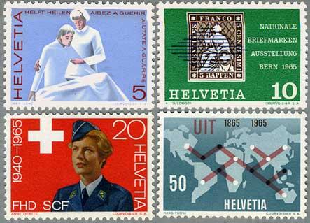 スイス1965年女性軍補助隊20年(20c)など4種