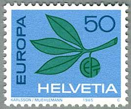 スイス1965年ヨーロッパ切手 小枝