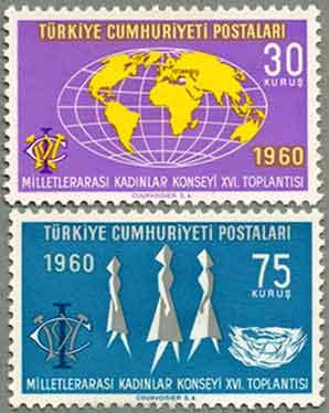 トルコ1960年国際女性評議会2種