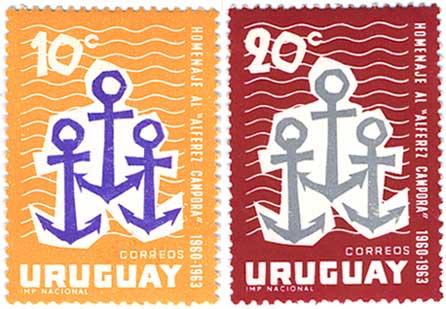 ウルグアイ1963年Alferez Camporaヨット世界一周2種