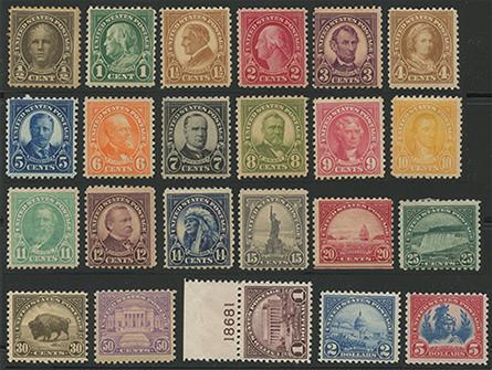 1922年シリーズ平面版23種
