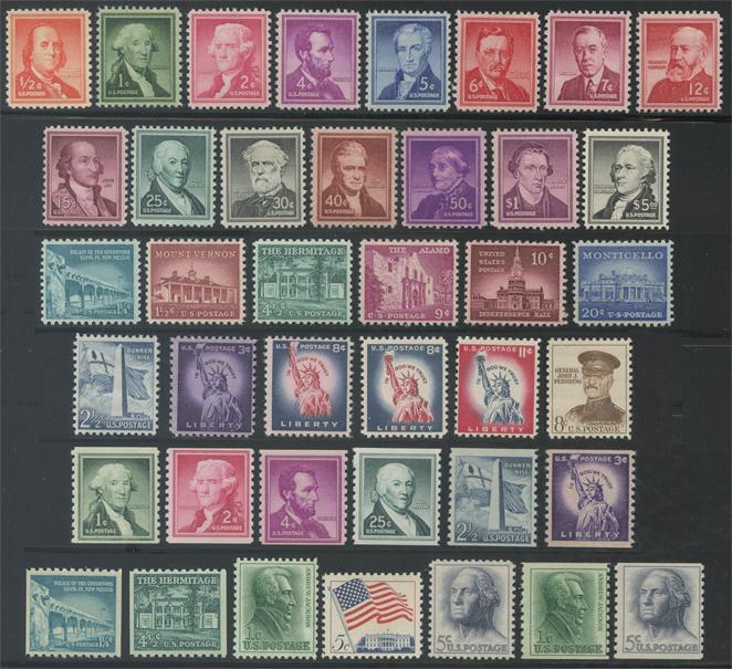 アメリカ リバティー・シリーズ(1954年シリーズ)40種(No.1)