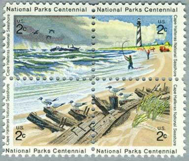 アメリカ1972年国立公園100年4種