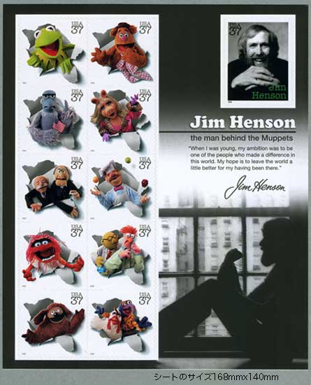 アメリカ2005年ジム・ヘンソンとマペットたちシート
