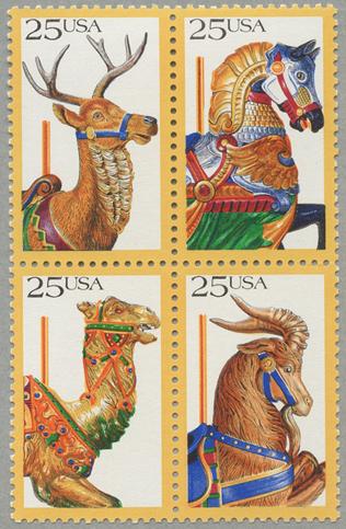 アメリカ1988年回転木馬4種連刷