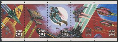 宇宙のファンタジー5種 切手帳ペーン