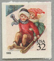 クリスマス そりに乗る子供