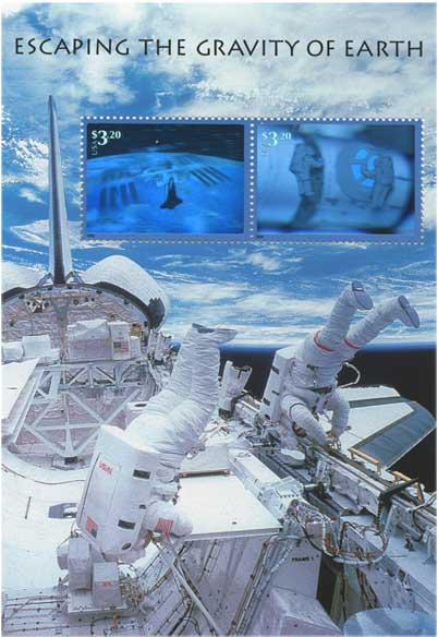 アメリカ2000年宇宙開発シリーズ小型シート「重力圏からの脱出」