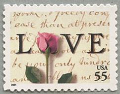 LOVE バラ55c