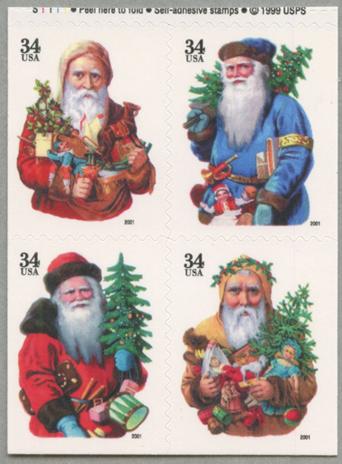 クリスマス4種連刷(年号文字小)