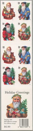 クリスマスサンタクロース切手帳