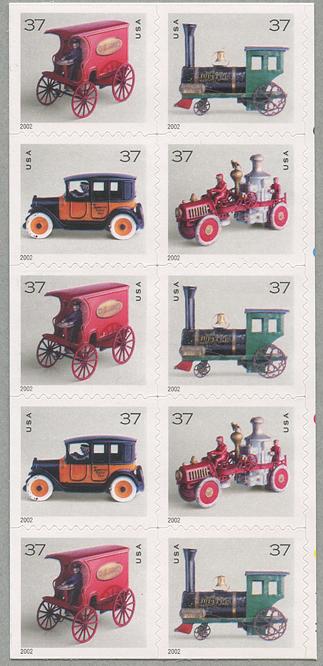 アンティークトーイ「37」切手帳分割