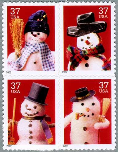 アメリカ2002年クリスマス4種