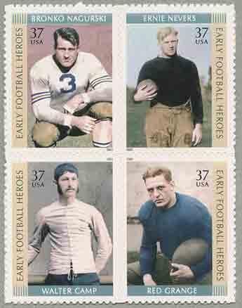 アメリカン・フットボールの英雄4種連刷