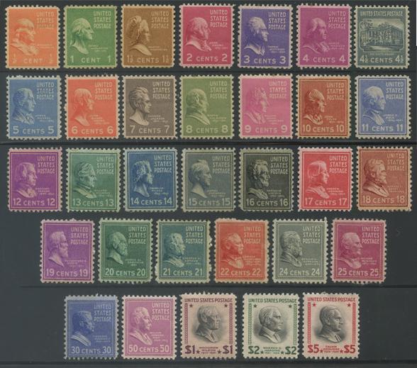 アメリカ 1938年大統領シリーズ32種揃い(No.2)