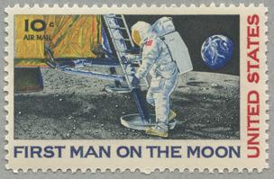 1969年航空切手 月面着陸成功
