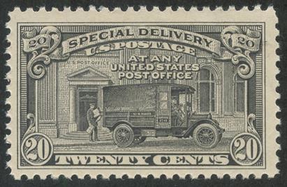 特別配達切手 郵便トラック(目打11)