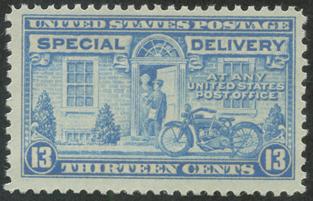 特別配達切手 オートバイの配達13c