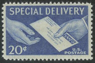 特別配達切手 手渡しの速達便20c