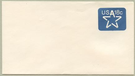 切手付封筒 星18c