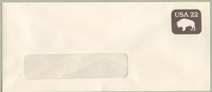 切手付封筒 バッファロー(サイズ大)