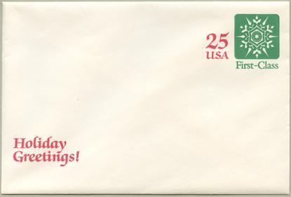 切手付封筒 雪の結晶