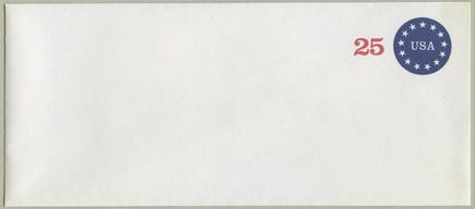 切手付封筒 13星25c