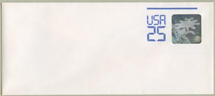 切手付封筒 宇宙開発ホログラム25c