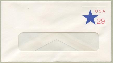 切手付封筒 星29c